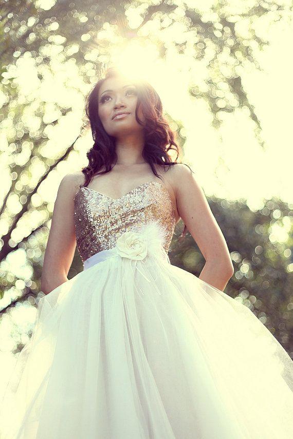 42 best mini skirt style wedding dresses images on for Blush tulle wedding dress