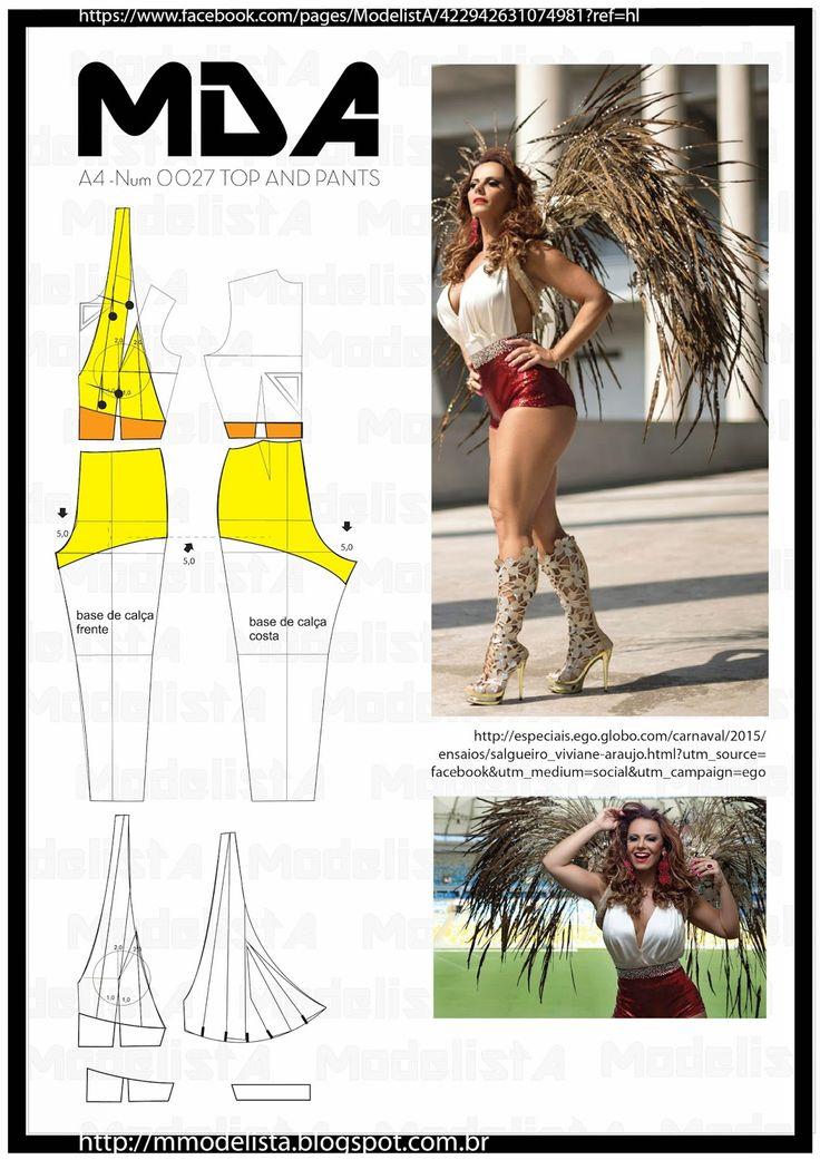 ModelistA: A4 - NUM 0027 TOP AND HOT PANTS