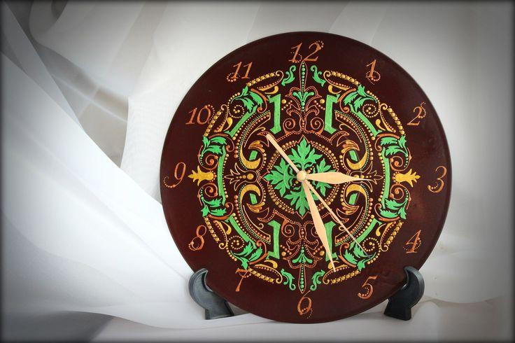 Часы на виниловой основе - Лес Друидов.