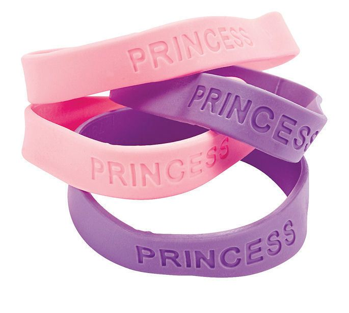 12 pastel Princess Sayings Rubber Bracelets Party Favors dress up BIRTHDAY #BirthdayChild