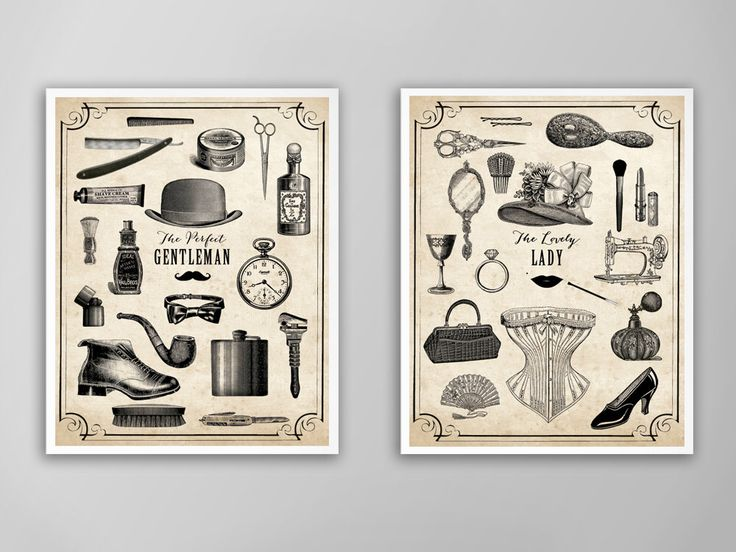 His And Hers Art Print Set Valentines Day Gift Bathroom Decor His Hers Art Prints His And Hers Etiquette Posters His And Hers Charts Valentines