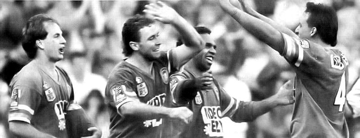 1990 Grand Final: Canberra Raiders celebrate
