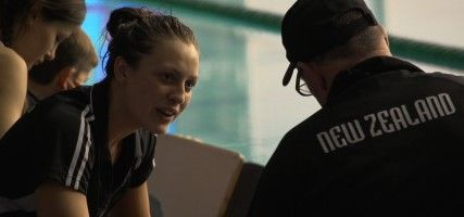 Documentary: Beneath the Surface: Sophie Pascoe became New Zealand's golden girl when she won three gold medals and a silver at the 2008 Beijing Paralympics… at just 15 years of age. Now the hunter has become the hunted as she strives to achieve even more in London. This is an intimate insight into one of New Zealand's hardest working athletes. We're alongside Sophie as she prepares for the biggest event of her life.