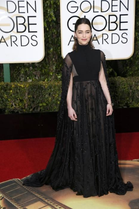 Emilia Clarke arrives at the 73rd Golden Globe Awards in Beverly Hills 1/10/16