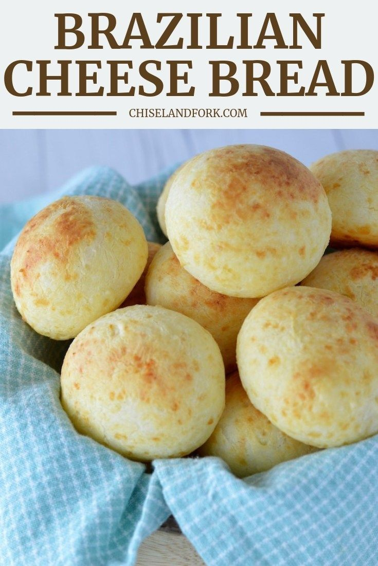 This Easy Brazilian Cheese Bread Is A Gluten Free Bread Snack That Basically Is A Chew Brazilian Cheese Bread Cheese Bread Recipe Brazilian Cheese Bread Recipe