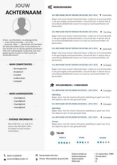15 best gratis word cv sjablonen inclusief sollicitatiebrief images on pinterest