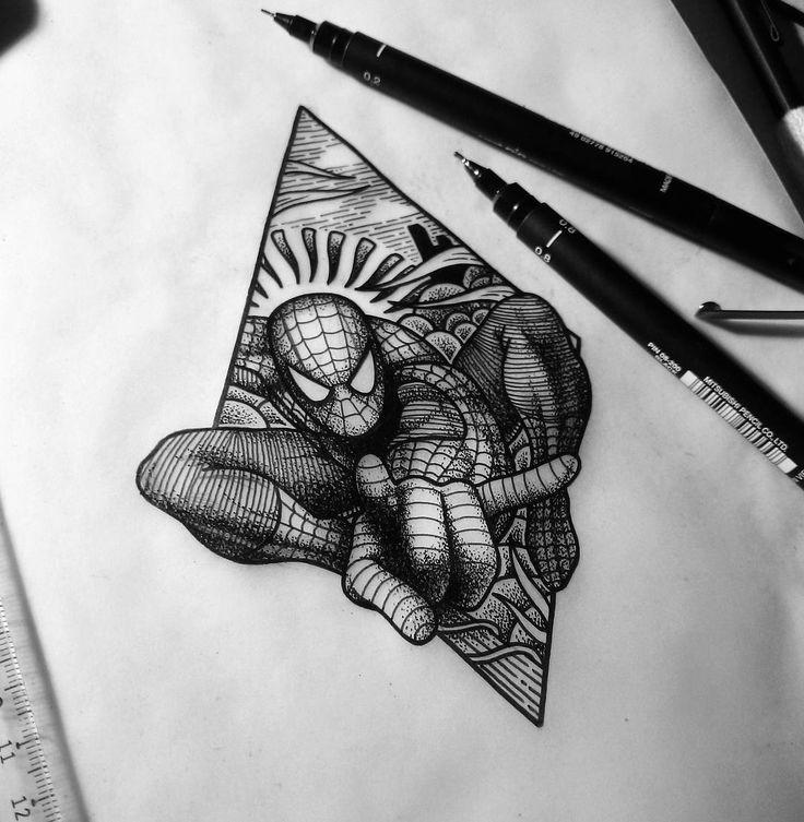 Best 25 spiderman tattoo ideas on pinterest for Marvel sleeve tattoo black and white