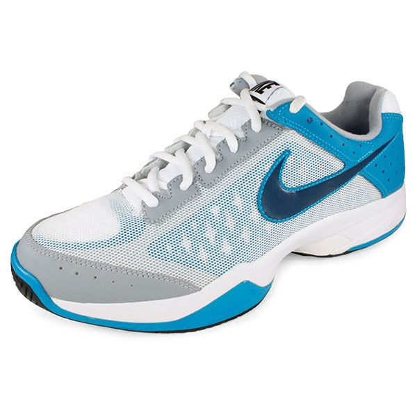 Men`s Breathe Court Tennis Shoes White/Neo Turq