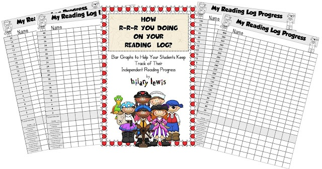 Common Core-Show Growth in Your Students' Learning reading log graph with questions for kids to reflect