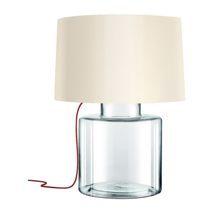 Sonneman Grasso Red French Wired Clear Glass Table Lamp   Style # 8N787