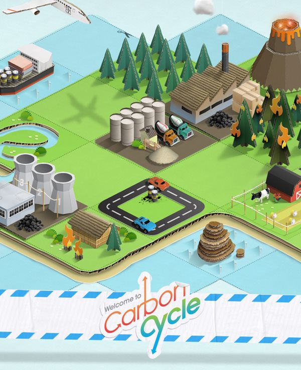 Carbon Cycle Augmented Reality Game on the Behance Network