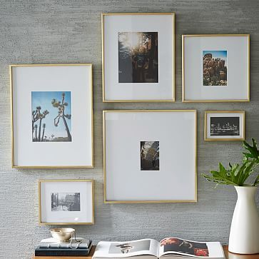 Gallery Frames - Polished Brass #westelm