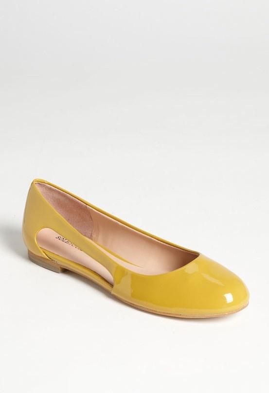 Pop of color - mustard flats