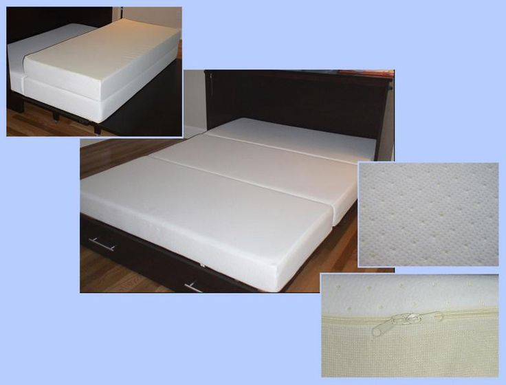 Murphy Bed Alternative. short cabinet with trifold mattress on frame with rollers. (memory foam).