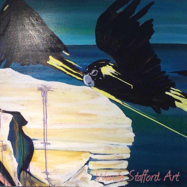 'Yellow Tail over WCW' Acrylic on Canvas Artist: Wanda Stafford