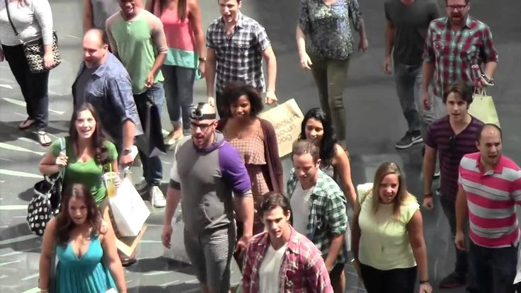 """The Orlando Shakespeare Theatre cast of """"Les Misérables"""" performs a """"One Day More"""" flash mob at a local mall--the video has gone viral. #LesMiserables #flashmob"""