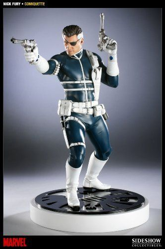 Sideshow Collectibles - Marvel Comiquette statuette 1/5 Nick Fury 41 cm by Sideshow Collectibles. $259.00. Sideshow Collectibles. Nick Fury comiquette. Joining the Sideshow Collectibles Marvel line is the Nick Fury Comiquette, depicting the famed leader of the SHIELD. Presented in 1:5 scale, each piece is individually painted and finished with its own unique quality and detail that is the trademark of a handcrafted Sideshow Collectibles product. Wielding his classic pistols a...