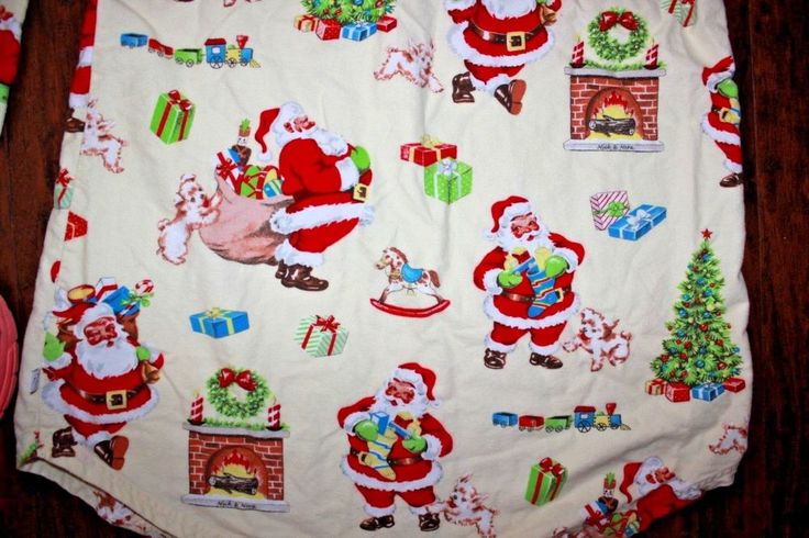 Nick and Nora Womens Flannel Sleep Shirt LARGE Retro Santa Christmas Nightgown  #NickNora #Sleepshirt #Everyday