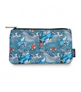 Loungefly x Pokémon Gyarados Magikarp Waves Coin/Cosmetic Bag