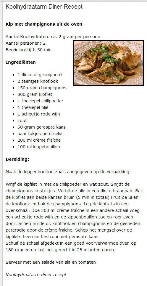 Kip met champignons