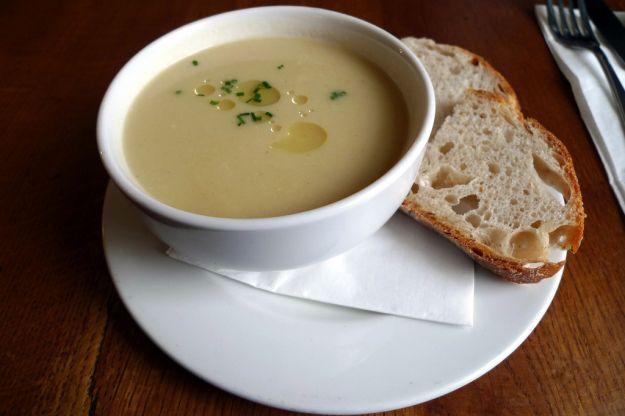 Zuppa di sedano rapa (celeriac soup -  in italian)