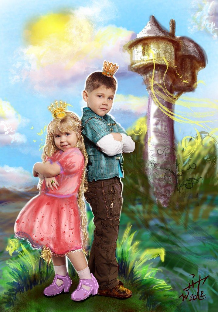 photo + digital painting Rapunzel and Prince bu Wait94 Vaygacheva Nastya