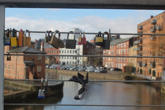 Padlock Bridge in Leeds by DWhitePhotography on Etsy