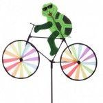 Moulin à vent - Tortue sur vélo