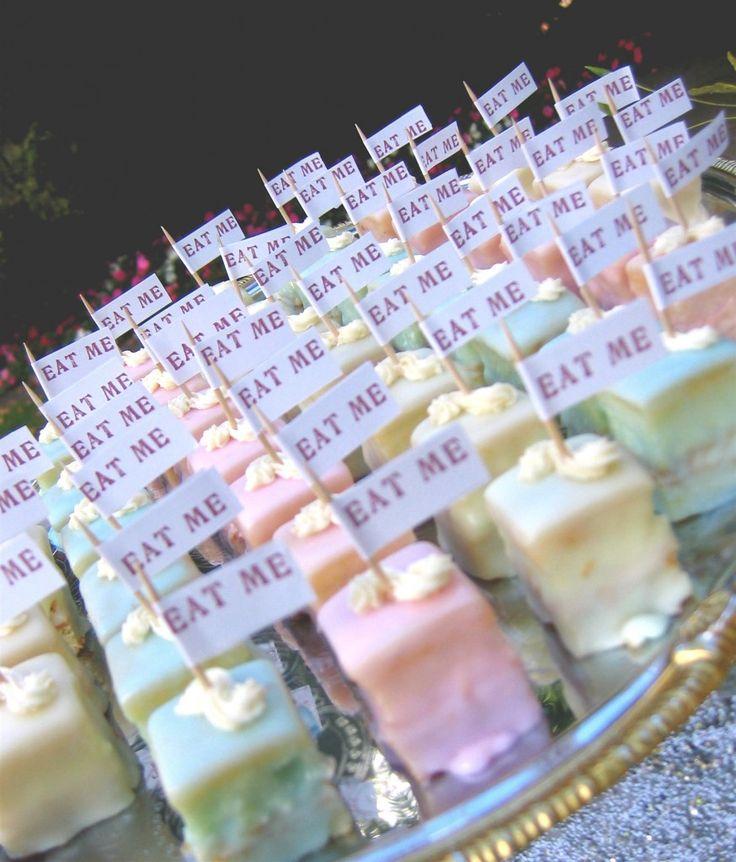 alice in wonderland bridal shower tea party | Alice in Wonderland Inspired Petit Fours | A Wedding Cake Blog