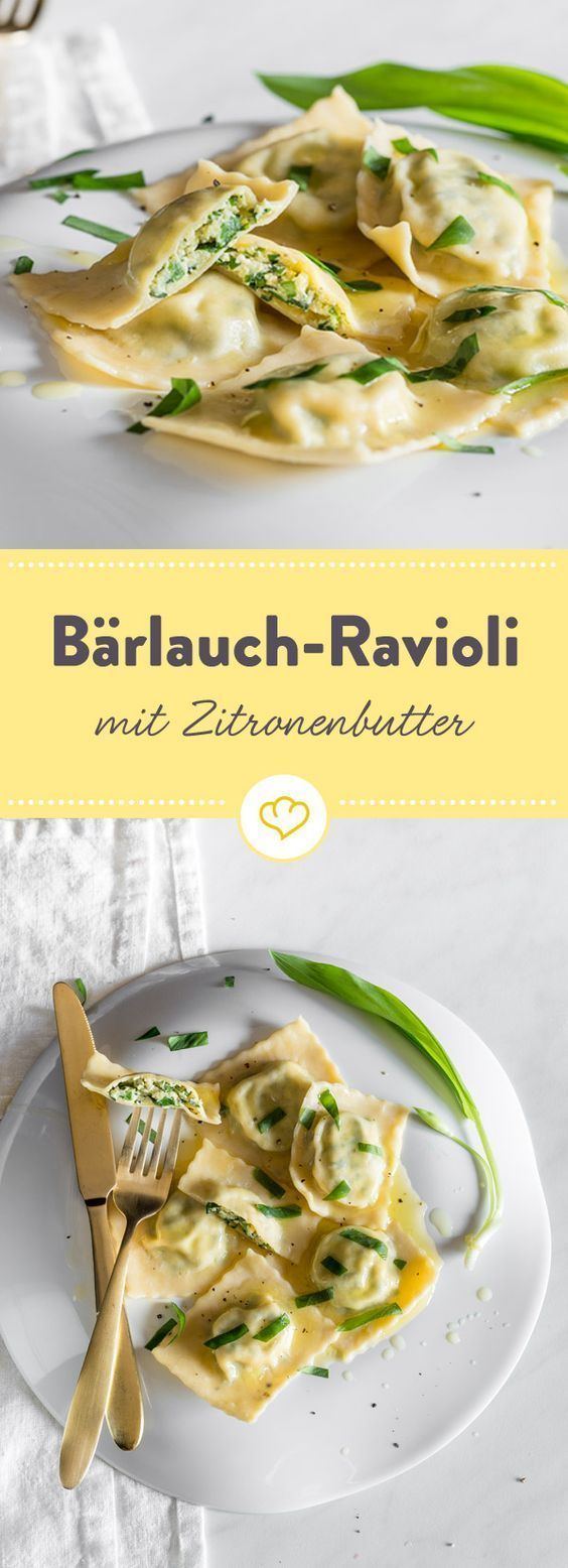 Wild garlic ravioli with lemon butter   – Rezepte