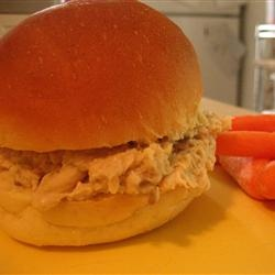 Hot Shredded Chicken Sandwiches Allrecipes.com - dying to try this.