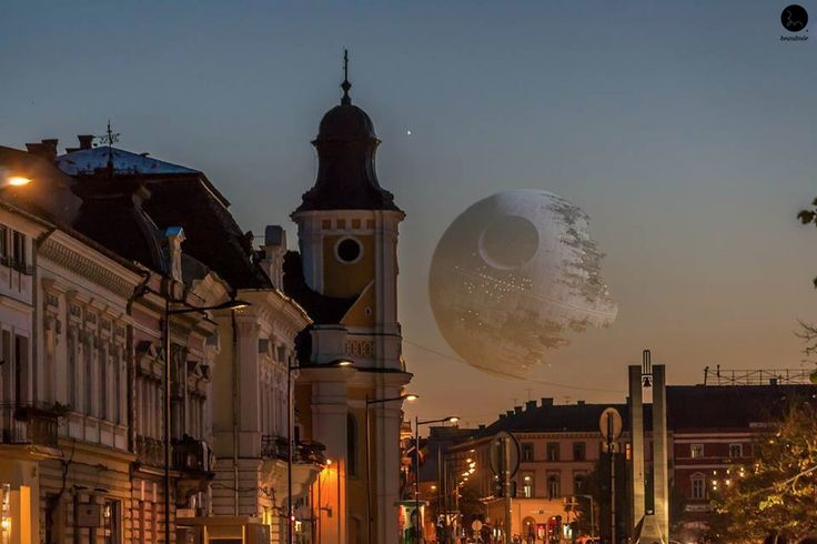 Star Wars - Death Star - view from Cluj https://www.facebook.com/brandmor?ref=hl