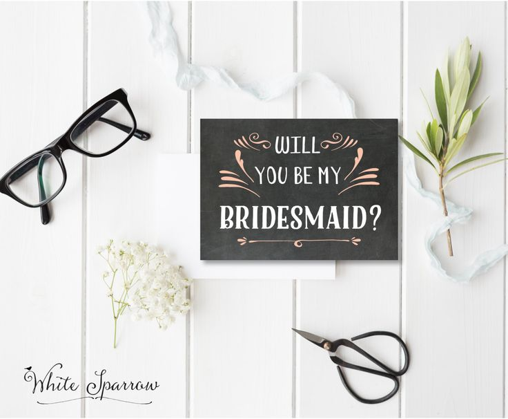 Bridesmaid Invitation, Will you be my Bridesmaid Card. Will you be my Maid of honor?, Will you be my flower girl?, Bridesmaid Invite, by WhiteSparrowPrints on Etsy