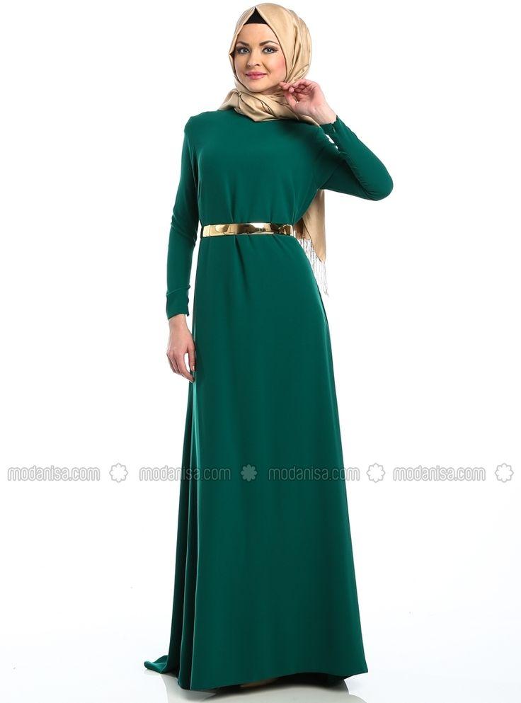 HUMA платье - Зеленый - Медина Хиджаб