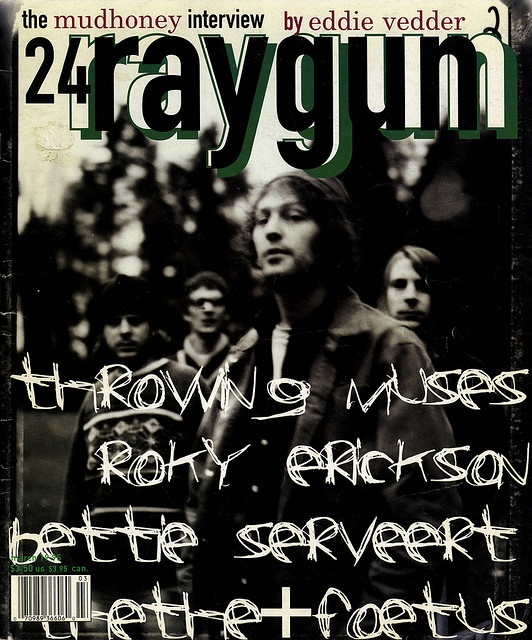 """cMag510 - Ray Gun Magazine cover """"Mudhoney"""" by David Carson / Issue 24 / March 1995"""