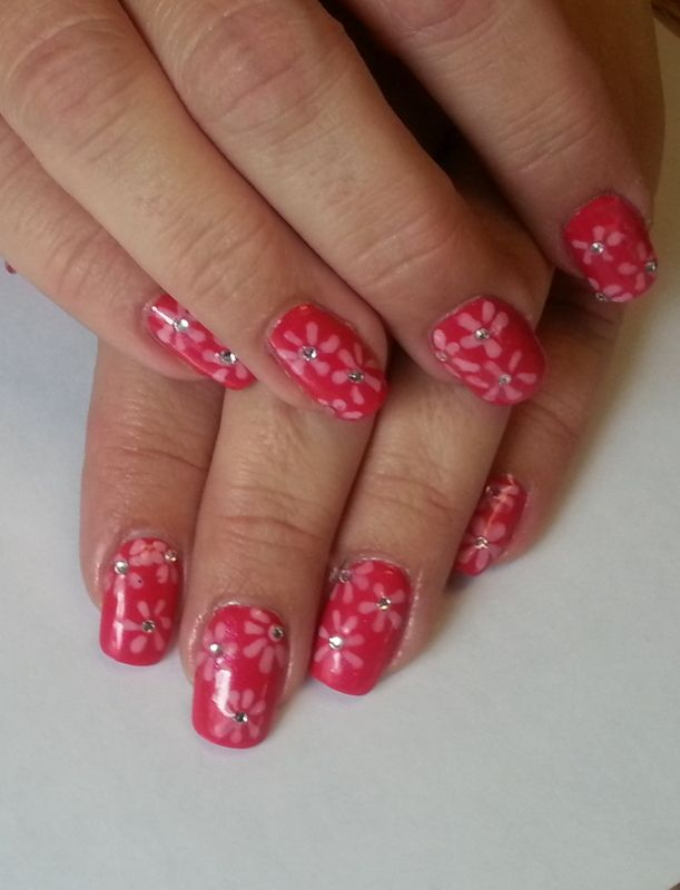 """Summer Flirt"" Pink w/light pink flowers"