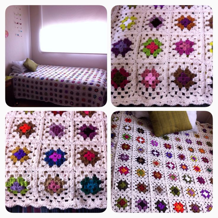 378 granny squares!! It took me about 2 months to get it finished!