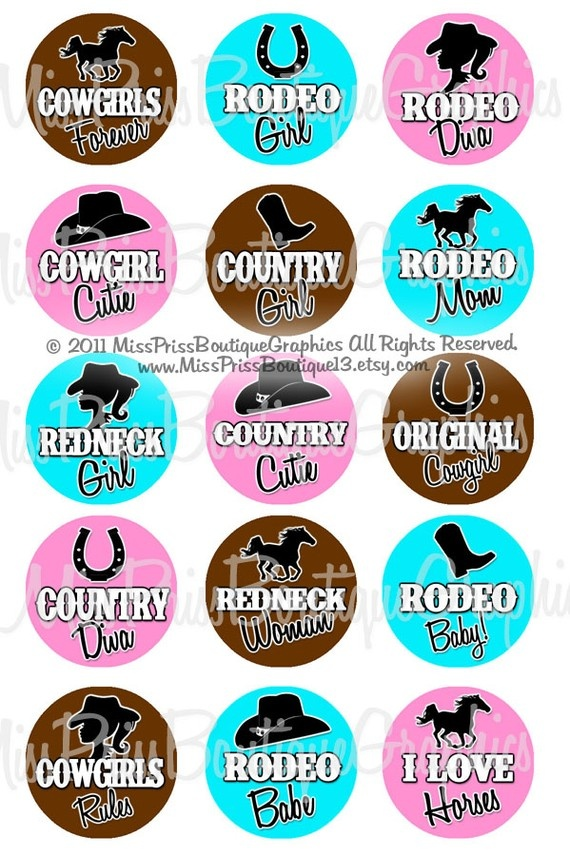 4x6  COWGIRL SAYINGS   Instant Download   by MissPrissBoutique13, $2.00