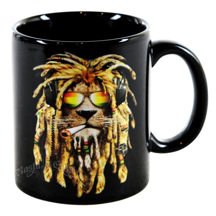 DJ LION SMOKING 11oz Coffee Cup