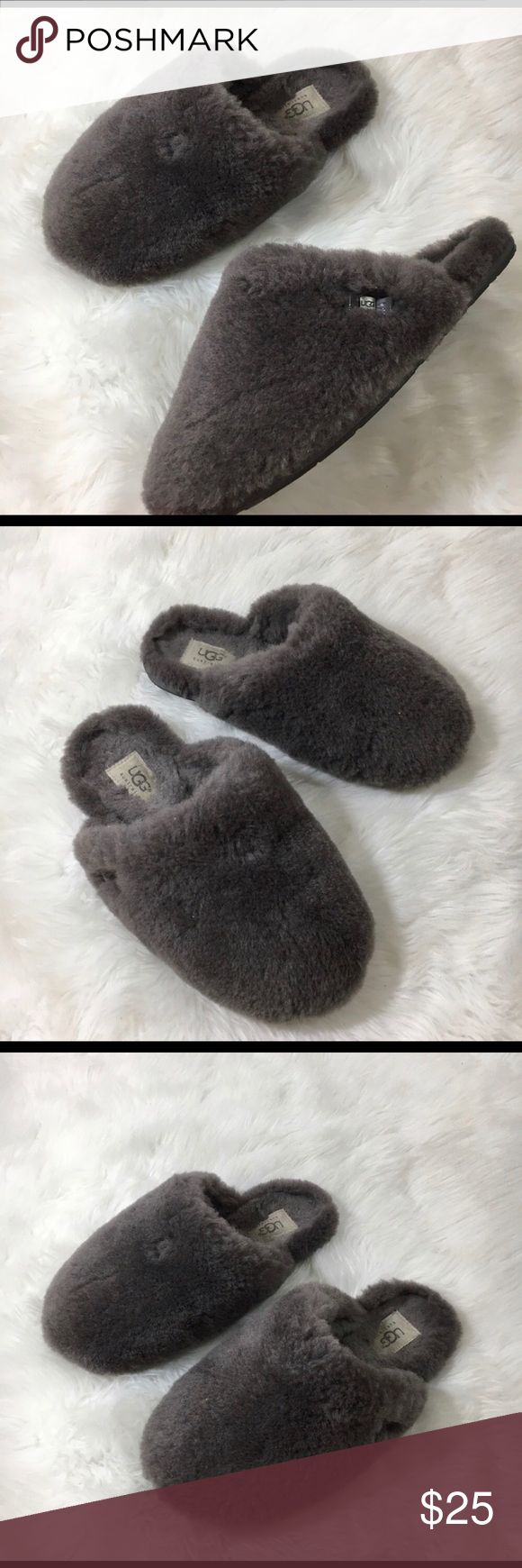 UGG sheep grey slippers Super soft and warm and fuzzy size 7 slippers great condition UGG Shoes Slippers