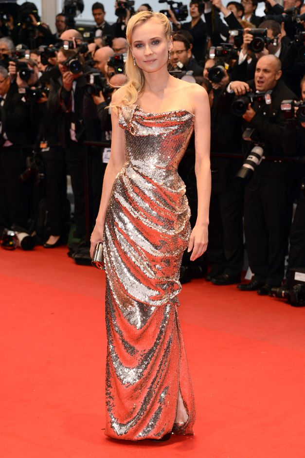 Diane Kruger in Vivienne Westwood Cannes 2012. She has the BEST style. Gorg.