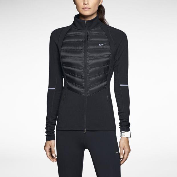 Nike Aeroloft running jacket. It promises superior insulation with minimal weight. I like its Sci-Fi look.