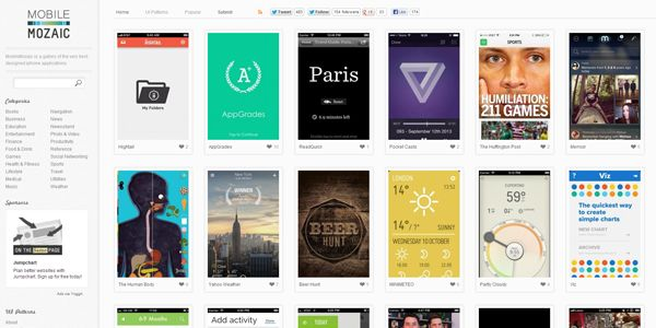 MobileMozaic is a gallery of the very best designed iphone applications