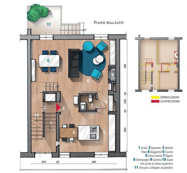 Casa Su Due Livelli 61 61 Mq Con Divisioni Salvaspazio Cose Di Casa Nel 2020 Case Case Moderne Porte Scorrevoli Interne