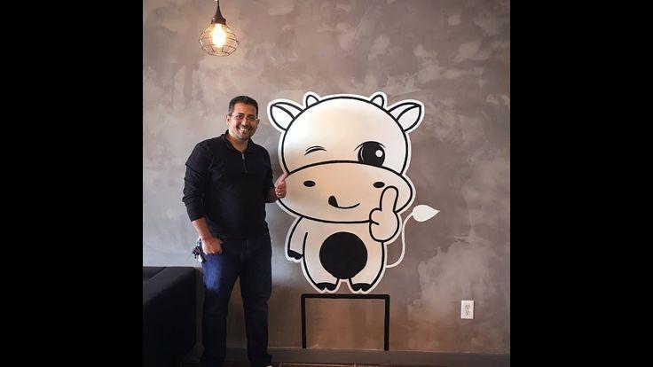 Drawing Tap Gelato Logo at wall