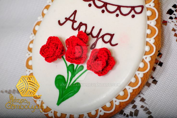 Gingerbread Gift for Mother's Day with Rose Croche by AngelDarky on DeviantArt