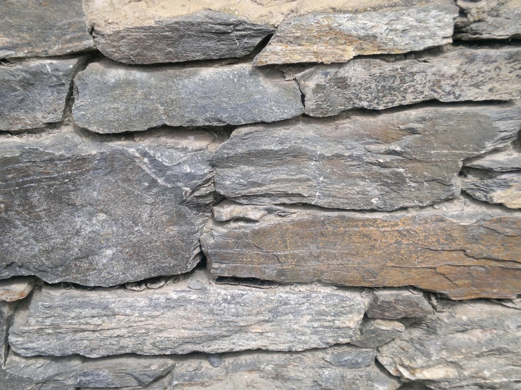 Dry stone wall: Old Town Cromwell, Central Otago, New Zealand