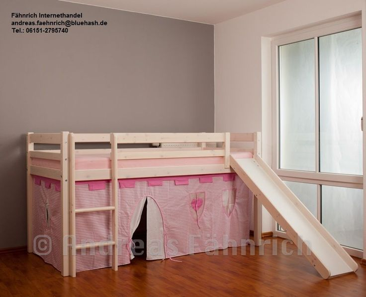 vorhang vorh nge burgfr ulein prinzessin f r hochbett z b flexa thuka pink rosa ebay. Black Bedroom Furniture Sets. Home Design Ideas