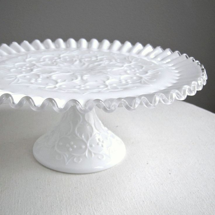 Milk Glass Cake Plate by Fenton & 652 best Cake Plates Extraordinaire images on Pinterest | Cake ...