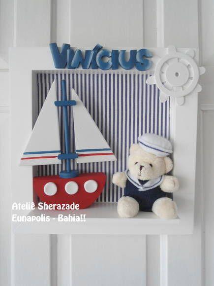 urso em pelucia, sujeiro a variação, conferir estoque barco em madeira mdf tamanho 25x25cm R$ 120,00